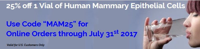 25% off 1 Vial of Human Mammary Epithelial Cells