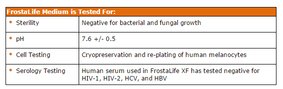 FrostaLife cryopreservation solution